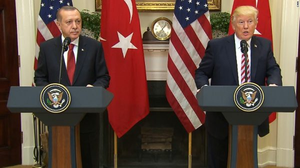 President Trump meets with Turkish president Erdogan
