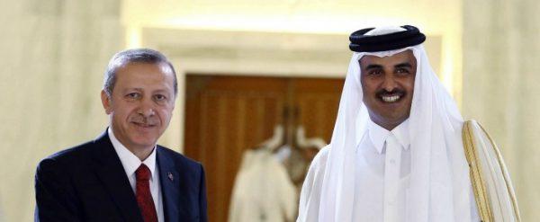 Turkish president Erdogan with Sheikh Tamim bin Hamad Al Thani the ruker of Qatar
