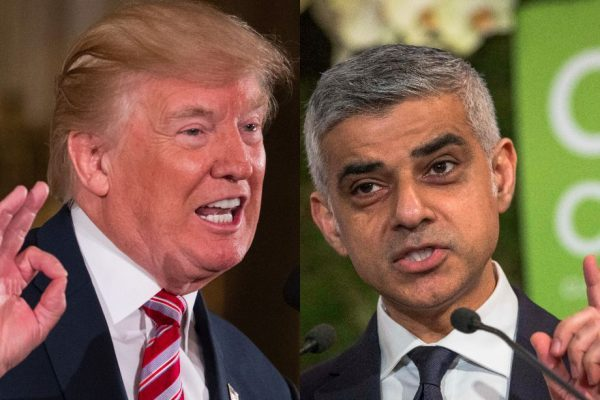 """Some people thrive on feud and division. We are not going to let Donald Trump divide our communities,"" London Mayor Sadiq Khan said in a  BBC appearance."