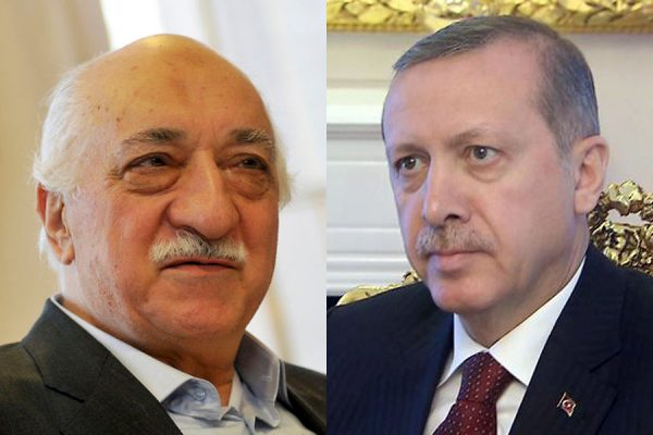 SLAMIC CLERIC Fethullah Gulen L (Turkish PRESIDENT Recep ERDOGAN Former allies turned bitter enemeies