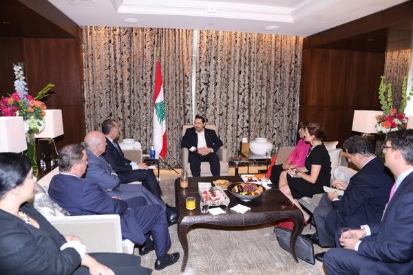 Pr-Minister-Saad-Hariri-meets-a-Delegation-from-Task-force-