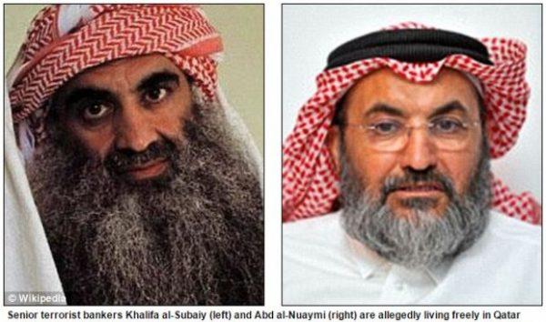 Al Qaeda paymasters Khalifa Muhammad Turki al-Subaiy and Abd al-Rahman bin Umayr al Nuaymi are reportedly 'living freely' in Qatar despite Gulf state's claim that it doesn't support terrorists