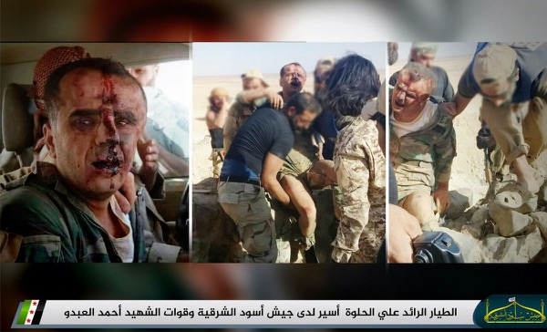 Major Ali al Helweh was captured by the FSA rebels after his plane was shot down
