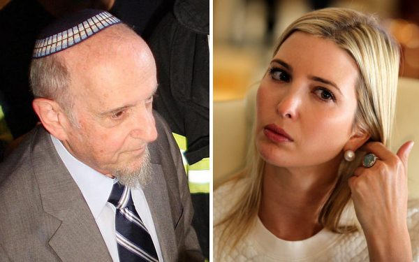 "Rabbi Haskel Lookstein (L) helped convert Ivanka Trump to Judaism . Lookstein told his New York synagogue that he is ""deeply troubled by the moral equivalency and equivocation"" of president Trump's reaction."