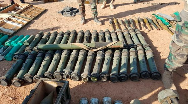 isis arms seized by Lebanon army