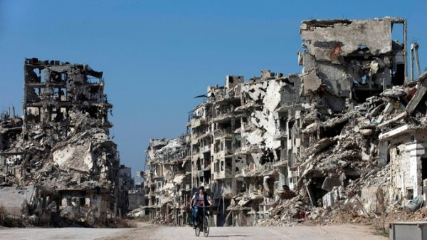 The old city of Homs, pictured in February 2016. Credit: AP
