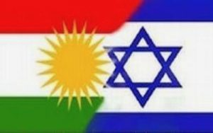 KURDISH AND ISARELI FLAGS According to the magazine Israel-Kurd based in Erbil, the Israeli Prime Minister, Benjamin Netanyahu and Massoud Barzani, the self-appointed President of the future independent Kurdistan, have recently reached a secret agreement.Tel-Aviv is committed to installing 200 000 Israelis of Kurdish origin in Kurdistan.