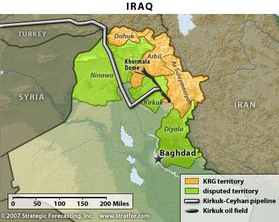Kurdistan oil pipeline