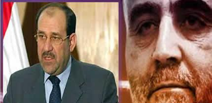 "Former Iraq Prime Minister Noori al-Maliki (L)  conspired with Iranian General Qasim Sulaimani before ISIS captured Mosul to establish a strategic corridor for Iraq and destabilize Mosul.  Suleimani , the head of Iran's Revolutionary Guards elite the Quds Force, has been described by the intelligence community as the ""most powerful operative in the Middle East today and the sole Iranian authority on Iraq."""