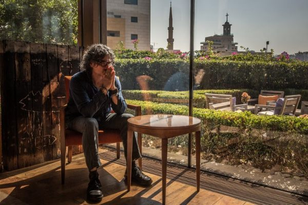 The Lebanese filmmaker Ziad Doueiri, at the Le Gray Hotel in Beirut. He was detained on arrival at the city's airport  last September and accused of treason over a movie he shot in Israel five years ago. Credit Bryan Denton for The New York Times