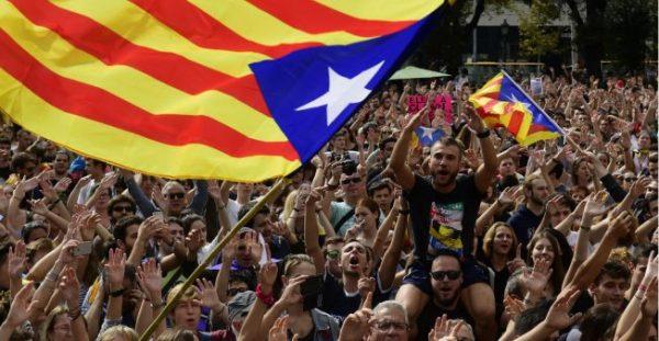 CATALANS PROTEST AGAINST SPAIN