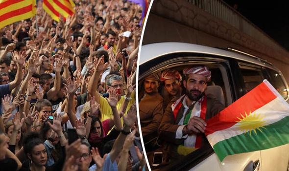 Catalan and- Kurdish Referendums