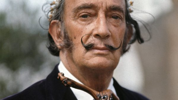 Dali's mustache intact after 28 years in a tomb