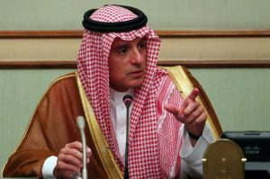 File photo of  Saudi Arabia's Foreign Minister Adel al-Jubeir