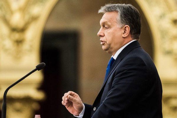 Viktor Orban renewed his assault on George Soros. Photographer: Akos Stiller/Bloomberg
