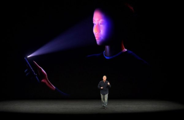 Apple senior vice president Philip Schiller shows the FaceID system which is being used on new iPhone X, allowing a user to unlock the device with a scan of the face Apple senior vice president Philip Schiller shows the FaceID system which is being used on new iPhone X, allowing a user to unlock the device with a scan of the face (AFP Photo/Josh Edelson)