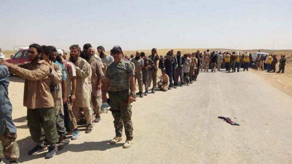 isis fighters surrendering