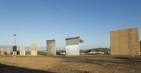 mexian border wall protypes