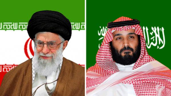 Iran's Ayatollah Ali Khamenei (L) and Saudi Crown Prince Mohammed bin Salman ( MbS)