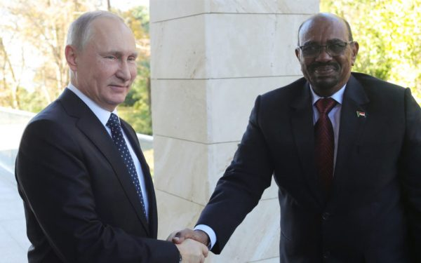 In Russia, Sudan's Bashir asks Putin for 'protection' from US
