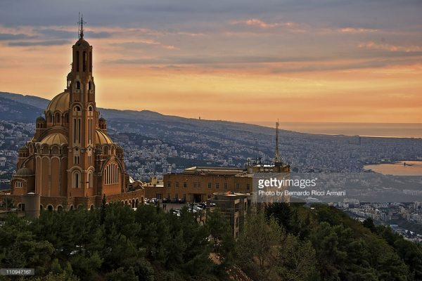 A view of Beirut from Harissa