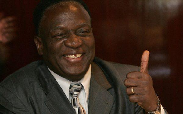 Emmerson Mnangagwa in a file photo