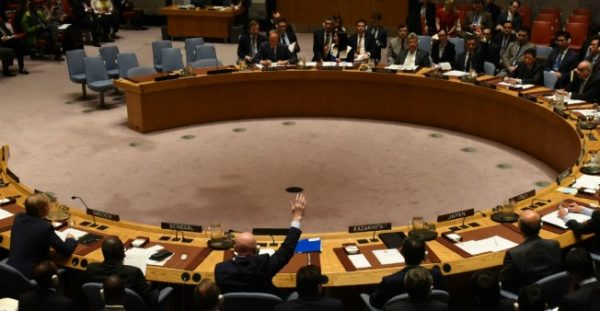 Timothy A. Clary, AFP file picture | The UN Security Council votes to extend investigations into who is responsible for chemical weapons attacks in Syria on October 24, 2017. Russia vetoed the resolution
