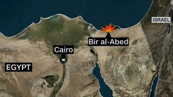 The attack targeted Al Rawdah mosque in Bir Al-Abed, in the west of Arish province, Egyptian state-owned news agency MENA said.