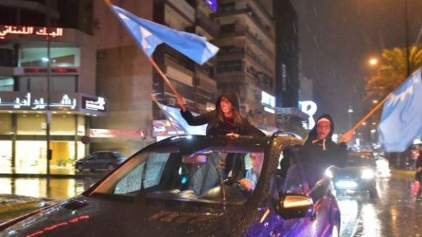 News of Mr Hariri's return was celebrated by his supporters in Beirut