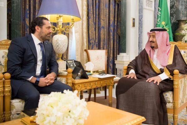 Saudi Arabia's King Salman met with Lebanese PM Saad al-Hariri in Riyadh on November 6 [Handout/Reuters]