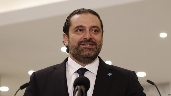 File photo:  Lebanese Prime Minister Saad Hariri
