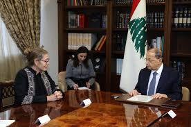 Aoun met with Acting UN Special Coordinator for Lebanon Pernille Dahler Kardel at the Baabda Palace