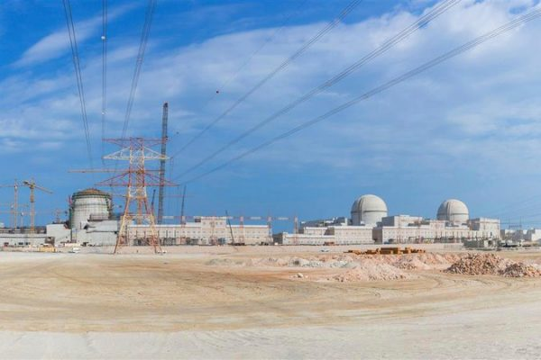 The Barakah nuclear power plant being built in Abu Dhabi's western desert. Credit Arun Girija/Emirates News Agency, via Associated Press