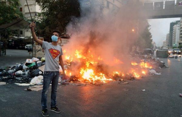 LEBANON garbage burning