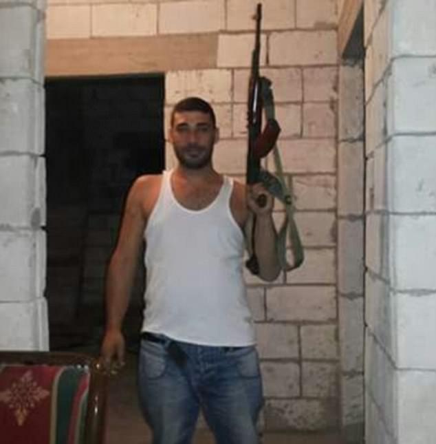29-year-old murder suspect Tarek Hawchieh proudly posing with a Klashnekov gun