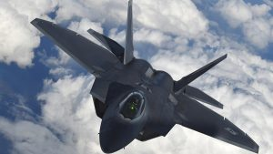 "Two US F-22 stealth fighters intercepted two Russian aircraft Wednesday after the Russian jets crossed the Euphrates River in Syria, flying east of the ""de-confliction line"" that is supposed to separate Russian and US-led coalition aircraft operating over Syria"