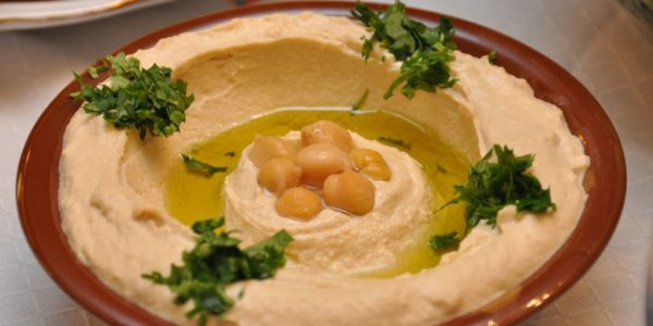 In Lebanon Hummus is traditionally served in a red clay bowl with a raised edge (Credit: tadphoto/Getty Images)