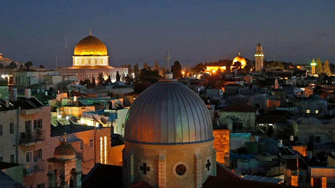 A picture taken on December 4, 2017 shows a general view of the skyline of the old city of Jerusalem, with the Dome of the Rock (L) in the Aqsa Compund. AHMAD GHARABLI/AFP/Getty Images)