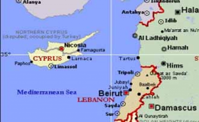 lebanon cyprus map
