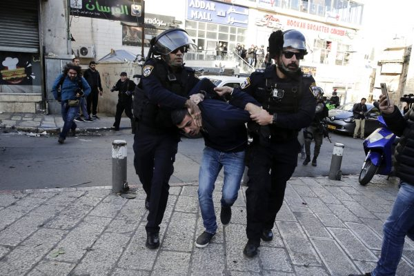 palestinian arrested by isareli police