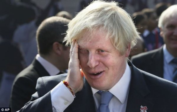 Boris Johnson was rebuked by Theresa May at last week's Cabinet meeting after he repeatedly mixed up  Lebanon with war-torn Yemen.