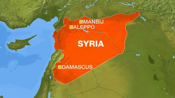 Manbij SYRIA MAP