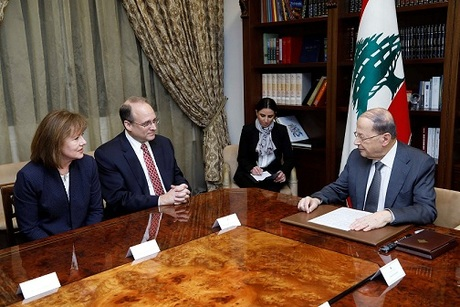 Marshall Billingslea with President Aoun