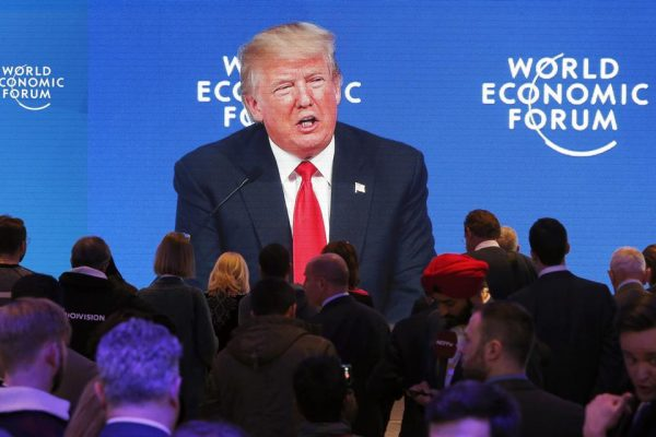 President Trump was booed at Davos for playing the fake news card