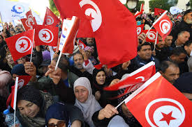 "Tunisians on Sunday marked seven years since the uprising that launched the Arab Spring, with more protests after days of unrest over persisting poverty and unemployment. They are again chanting slogans of ""Work, Freedom, Dignity""."