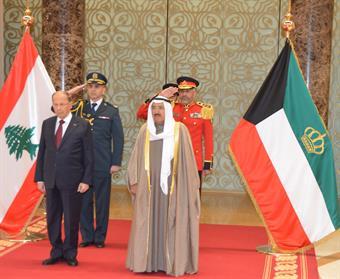 aoun leaves Kuwait