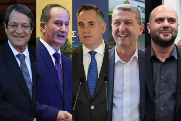The main presidential candidates are from Left Nicos Anastasiades, Stavros Malas, Nicolas Papadopoulos, Yiorgos Lillikas and Christos Christou