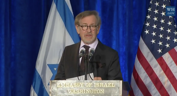 """Last March Steven Spielberg was quoted as saying when he was asked the question, """"How would you describe your attitude to Israel?,"""" Spielberg responded: """"From the day I started to think politically and to develop my own moral values, from my earliest youth, I have been an ardent defender of Israel. As a Jew I am aware of how important the existence of Israel is for the survival of us all."""