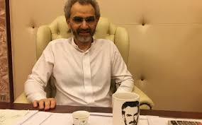 Saudi Arabian billionaire Prince Alwaleed bin Talal sits for an interview with Reuters in the office of the suite where he has been detained at the Ritz-Carlton in Riyadh, Saudi Arabia January 27, 2018. REUTERS/Katie Paul/File Photo