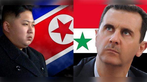 North Korea's Kim Jong Un and Syria's Bashar al-Assad